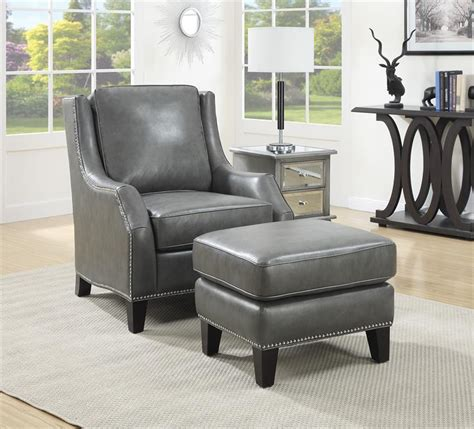grey chair and ottoman grey leather chair and ottoman mid century modern