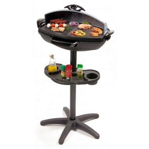barbecue 233 lectrique int 233 rieur ext 233 rieur avec couvercle et r 233 cup 233 rateur de graisse sur pied ou