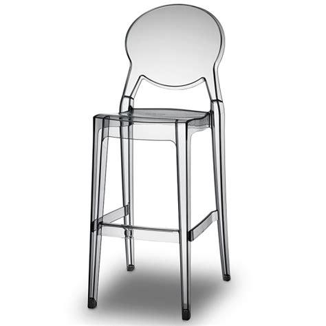 chaise de cuisine hauteur 65 cm tabouret de bar en plexiglas empilable igloo