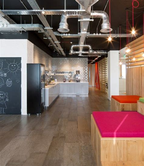 office kitchen design  exposed air conditioning