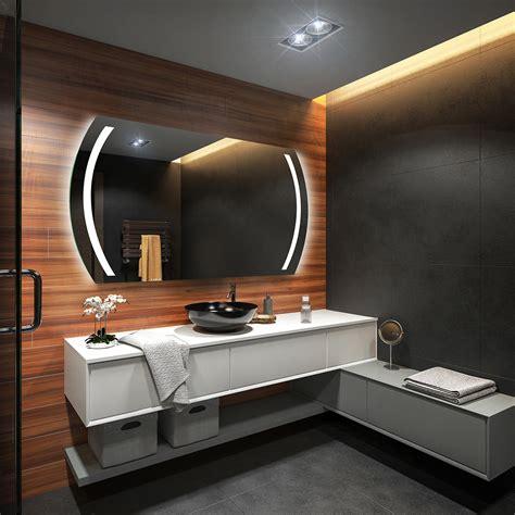 Custom Size Bathroom Mirror by Led Illuminated Bathroom Mirror L67 To Measure Custom Size