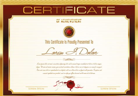 Certificate Template Vector Costumepartyrun