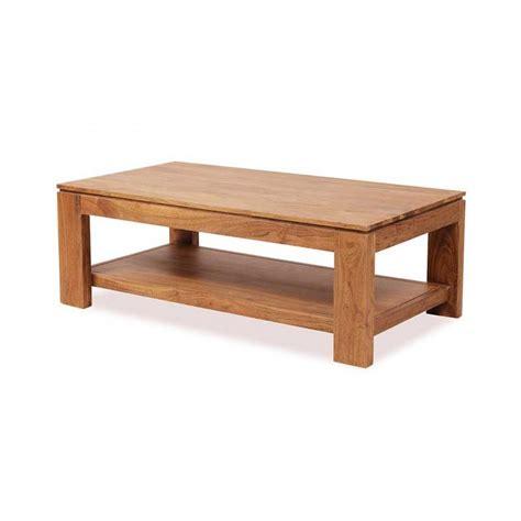 Table Basse Rectangulaire Bois Guntur 130 Cm #3504