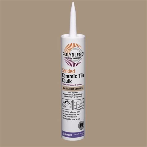 Polyblend Ceramic Tile Caulk custom building products polyblend 145 light smoke 10 5