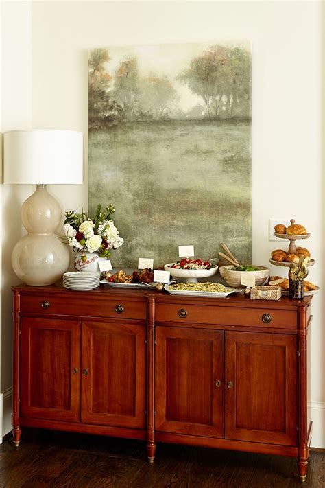 Dining Table Sideboard by How To Set Up A Buffet On A Dining Table Or Sideboard