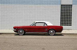 Cherry red Mustang Convertible