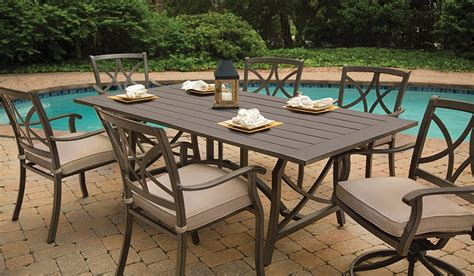 Outdoor Dining Tables & Chairs Long