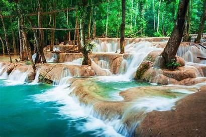 Laos Kuang Waterfall Luang Prabang Nature Water