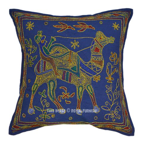 Decorative Pillows by Blue Camel Embroidery Decorative Toss Pillow