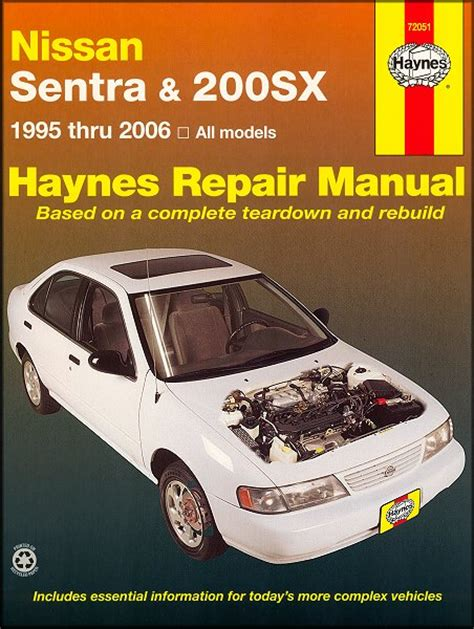 chilton car manuals free download 1996 nissan sentra instrument cluster nissan sentra nissan 200sx repair manual 1995 2006 haynes