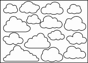 clouds by nina brackett stencil 8x10 feltro With cloud template with lines