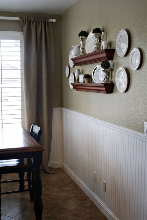paint a neutral color above white beadboard wainscoting in