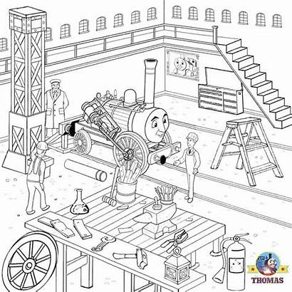 Pages Coloring Engine Activity Workshop Train Steam