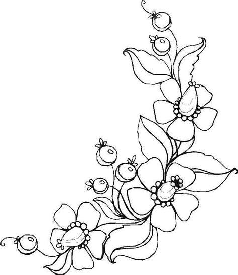 ranken bloemen ausmalbilder blumen ranken 01 zeichnen pinterest