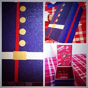 marine dress blues themed box i made to keep letters in With box to keep letters in