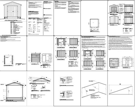 10x14 Shed Plans Pdf by Mustajab 12x16 Gable Storage Shed Plans Learn How