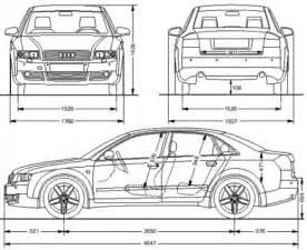 Dimension Audi A4 Avant : audi a4 b6 s4 sedan dane techniczne ~ Medecine-chirurgie-esthetiques.com Avis de Voitures