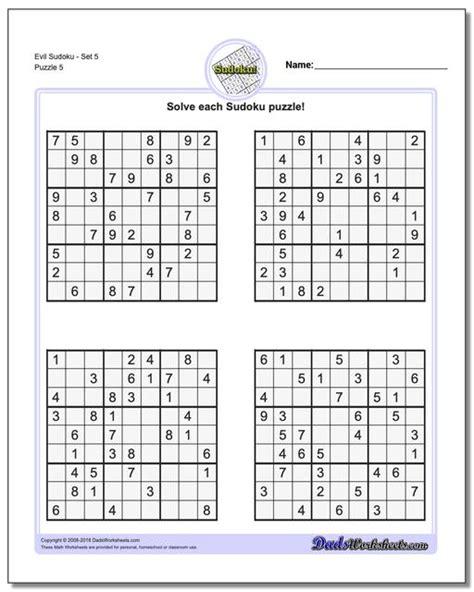 sudoku evil