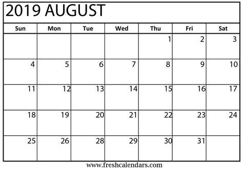 august calendar printable fresh calendars