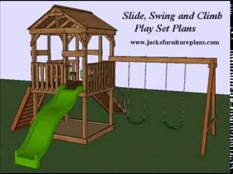 backyard playset play set swingset plans easy to follow by