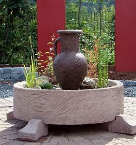 amphorenbrunnen springbrunnen brunnen werkstein 182kg With französischer balkon mit springbrunnen garten stein