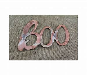 thin metal boo rustic metal letters wall art With thin metal letters