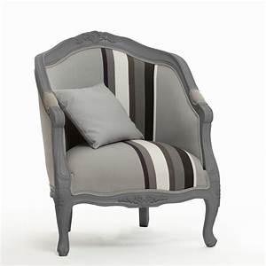 Fauteuil Cabriolet Gris : fauteuil cabriolet tissu style baroque contour bois hugo ~ Teatrodelosmanantiales.com Idées de Décoration