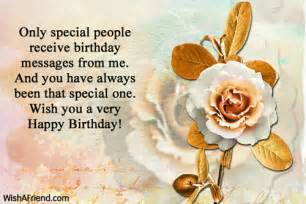 only special receive birthday messages happy birthday wish
