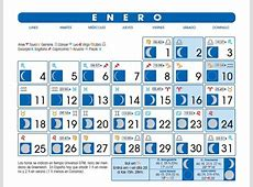 Calendario Lunar Enero de 2016