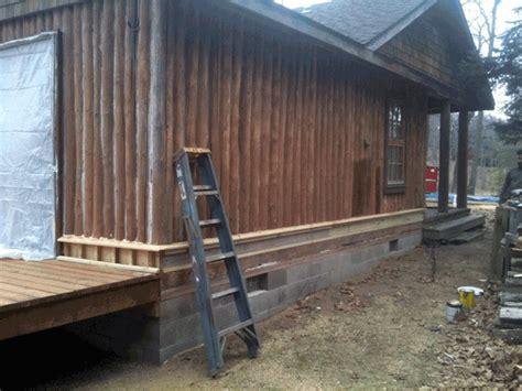 log home repair replacing rotten vertical logs hayward wisconsin edmunds  company