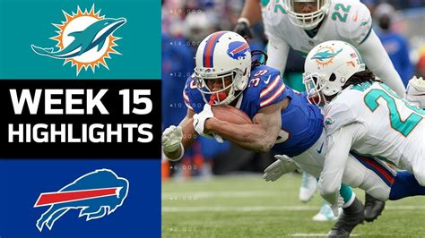 dolphins  bills nfl week  game highlights youtube