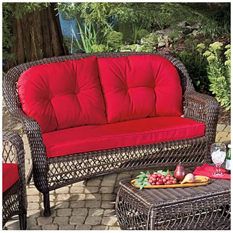 wilson and fisher patio furniture replacement cushions view wilson fisher 174 charleston resin wicker cushioned