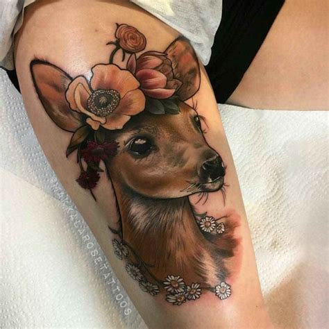 dear tattoo  flowers  tattoo ideas gallery