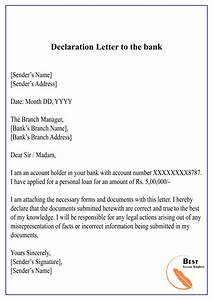 4  Free Declaration Letter Template  U2013 Format  Sample  U0026 Example