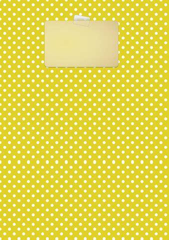 yellow polka dot binder cover template  printable