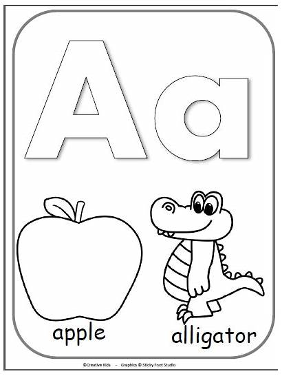 Letter Coloring Alphabet Cards Pages Preschool Kindergarten