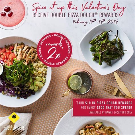 California Pizza Kitchen Spice It Up This Valentines