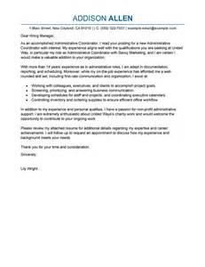 leading professional administrative coordinator cover letter exles resources