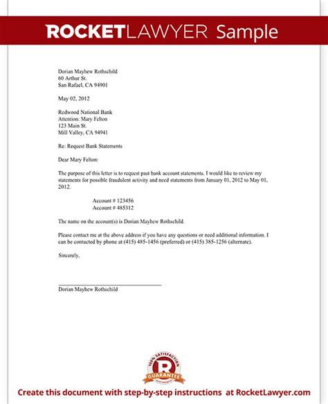 bank statement reconciliation request letter  sample