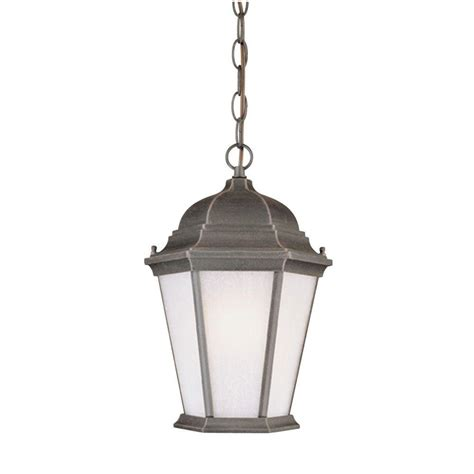 seeded glass pendant light westinghouse 1 light rust on cast aluminum exterior
