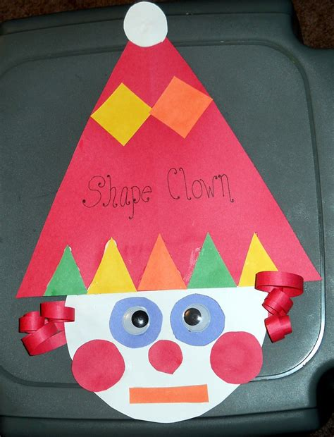 clown activities for preschoolers clown lesson plan for shapes shapes 966
