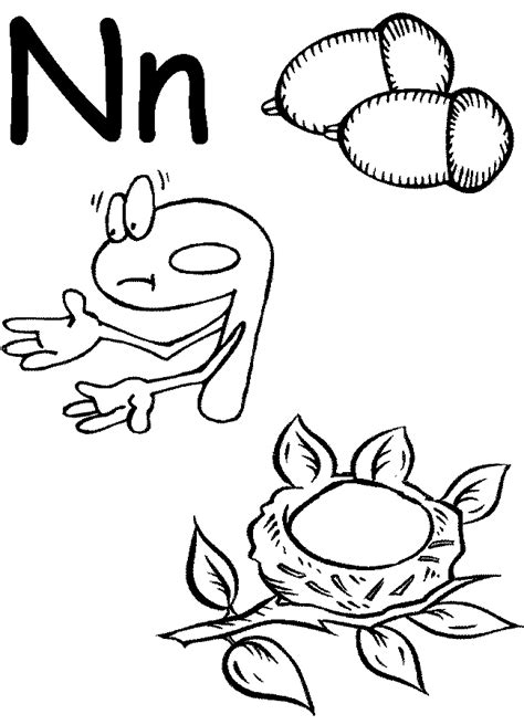 letter n preschool coloring pages coloring home 123 | Bcgn9dnc8