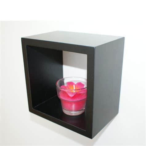 Individual Wall Shelves by Black Wall Cube Shelf 15x15x10cm Mastershelf