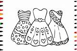 Coloring Dresses Pages Drawing Princess Pretty Simple Barbie Printable Paintingvalley Getcolorings Sheets sketch template