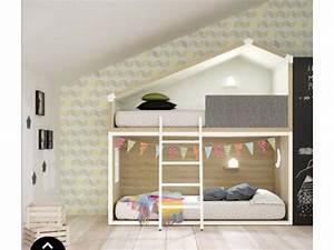 Barriere Lit Superposé : lit cabane rigolo pour chambre enfant prix c lin so nuit ~ Premium-room.com Idées de Décoration
