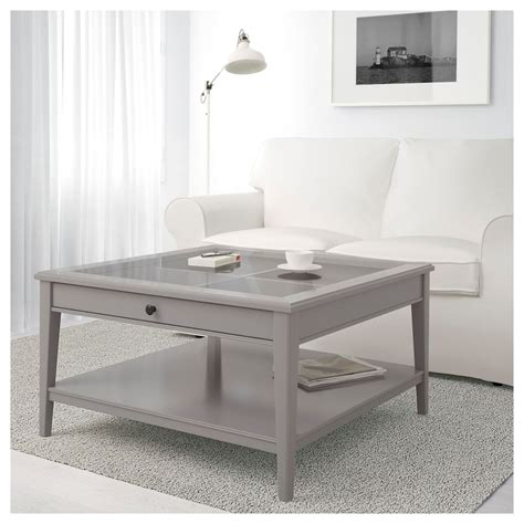 Coffee table with storage is essentially used for so many reasons. LIATORP Coffee table - grey, glass 93x93 cm | Coffee table, Coffee table grey, Ikea hemnes ...