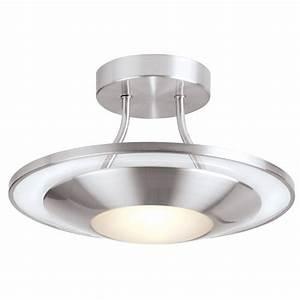 Endon satin chrome flush fitting ceiling light sc