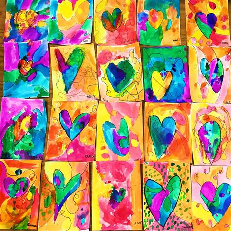 Kids Heart Art Project • Color Made Happy