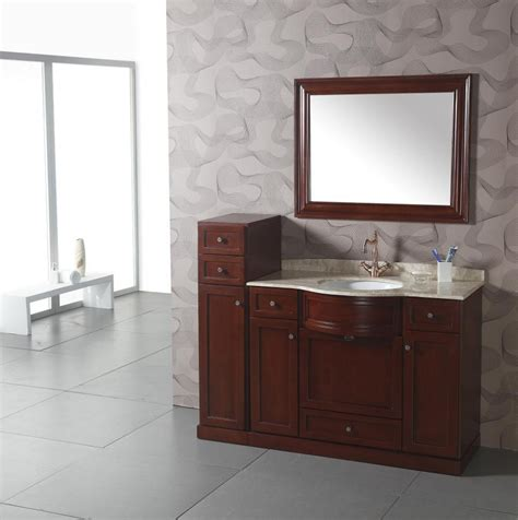 transitional single sink bathroom vanity  cream marble top uvlf