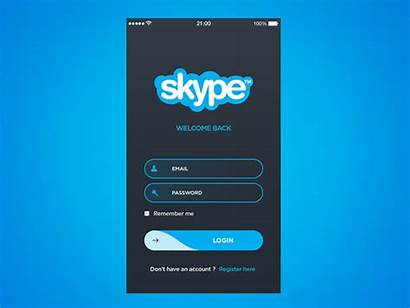 Login App Skype Log Form Concept Inspiration